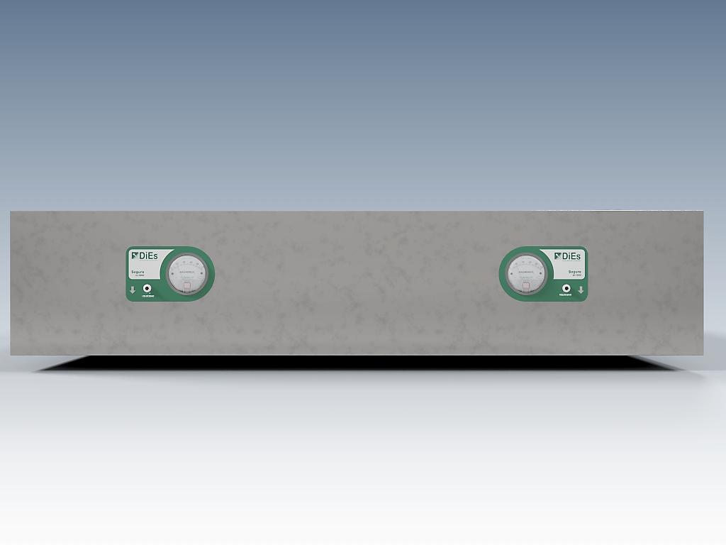 MBL1800 Vista frontal (lexan en espejo por cada filtro-motor)