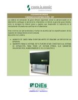 Cabina de extracción de gases BPXXXX INOX